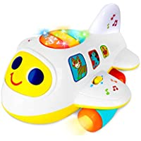 Baccow Baby Toys Light Up Moving Musical Airplane Toys