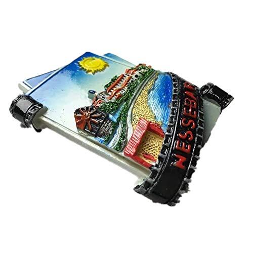 Kühlschrankmagnet Nessebar Bulgarien 3D Harz Handgemachtes Handwerk Tourist Travel City Souvenir Sammlung Brief Kühlschrank Aufkleber