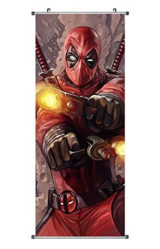 Großes Deadpool Rollbild | Poster aus Stoff | 100x40cm | Motiv: Wade Wilson