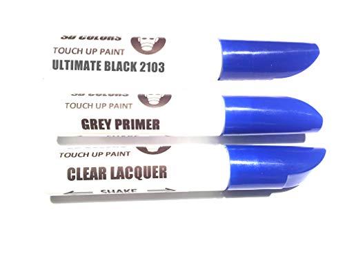 SD COLORS Ultimate Black 2103 / 1AG / PAB/PEL Kit de réparation de Stylo de retouche 12 ML Pinceau de Couleur 2103 / 1AG / PAB/PEL Ultimate Black