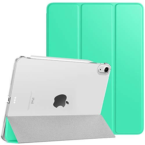 TiMOVO Funda Compatible con Nuevo iPad 10.9 Inch, iPad Air 4.ª Generación 2020, Tableta Cubierta Inteligente Trasera con Despertar/Dormir Auto, Protectora Plegable - Menta Verde