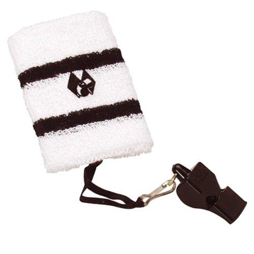 b+d Handgelenk-Schweißband weiß/schwarz