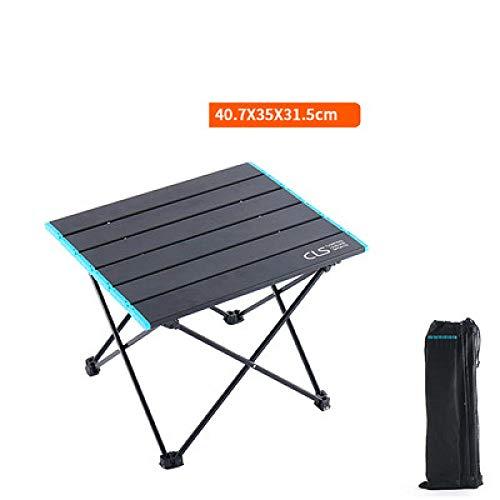 LJQLXJ Mesas Plegables Outdoor Folding Table Portable Ultralight Aluminum Barbecue Camping Small...