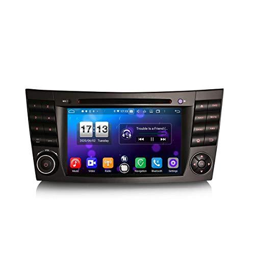 LYHY Car Navigator 7 Pulgadas Android 10.0 Car Stereo para Mercedes E/CLS/G W211 W219 W463 Soporte GPS Sat Nav Carplay Android Auto DSP Bluetooth WiFi 4G Dab + TPMS 8-Core 4GB RAM + 64GB ROM