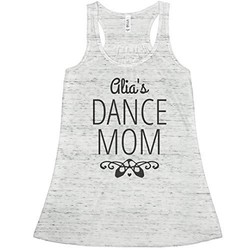 Alia's Dance Mom Tank Top: Bella Ladies Flowy Racerback Tank White Marble