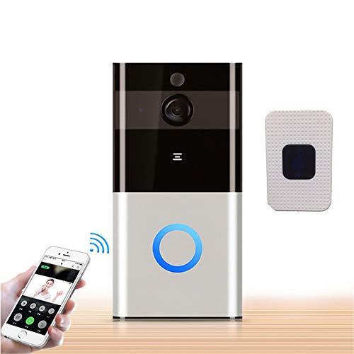 Video Türklingel, Alexa Google 1080P Zwei-Wege-Audio Batteriebetriebener drahtloser Cloud-Speicher Tuya Smart Remote View Camera,Doorbell + chime