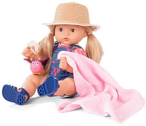 Götz 2018244 Maxy Aquini Cherry Kiss Badepuppe - Puppe mit blonden Haaren, blauen Schlafaugen - 9-teiliges Set - 42 cm Mädchen-Babypuppe