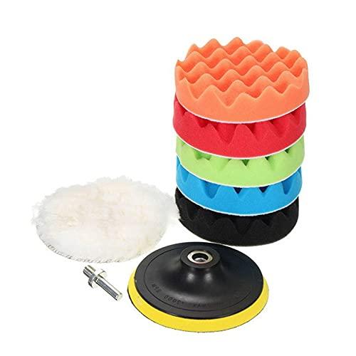Kit de pulido de esponja de depilación para rueda de lana de pulido de lechón bola de lana lavable y reutilizable