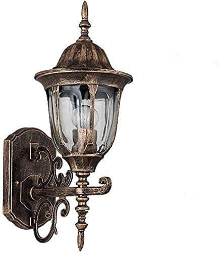 HTL Lámpara de Pared de Lectura Iluminada Apliques Lámpara de Pared Creativa Moderna Interior/Lámpara de Pared de Metal de Aluminio para Exteriores Vintage Lámparas de Pared Impermeables Valla Ilum