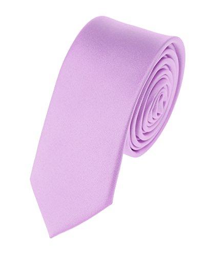 "Men's Solid Color 2"" Skinny Tie, Lavender"