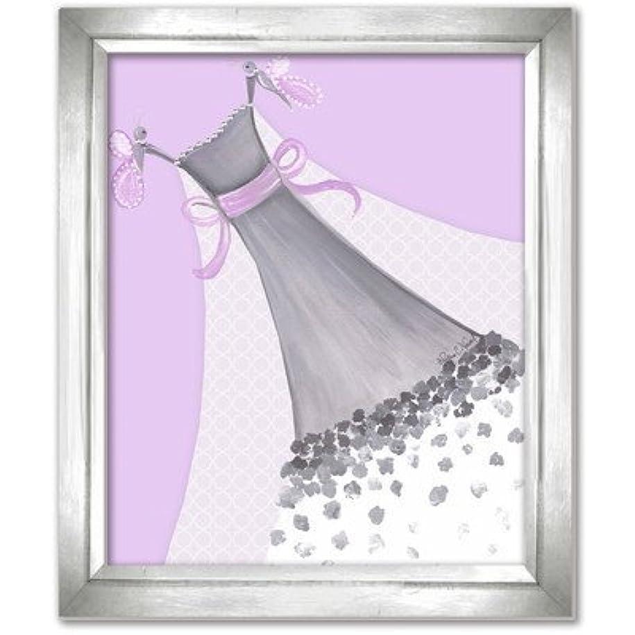耐える小さいスピーチDoodlefish DB1700prp-Silver Butterfly Couture Artwork, Silver Frame [並行輸入品]