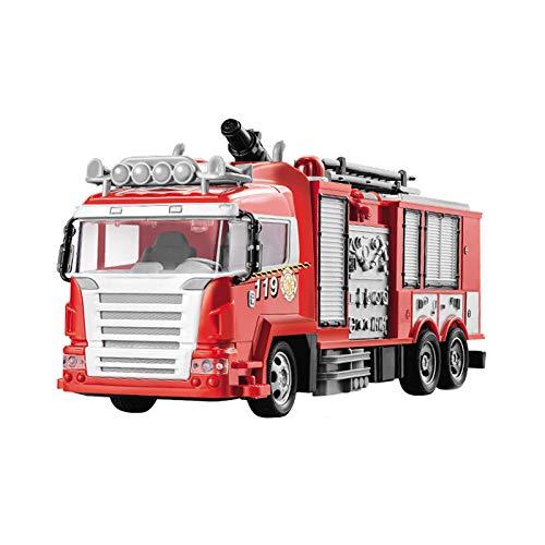 Spielzeug Elektrische Fernbedienung Autosimulation Feuerrettung Wasserwerfer Autospielzeug für Kinder und Jungen Feuerwehrauto Fernbedienung Auto Kinderspielzeug Wiederaufladbare Batterie