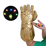 LED Light Up Infinity Glove Thanos Gauntlet Props...