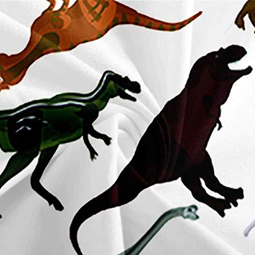 HKDGHTHJ Fundas nordicas Cama Dinosaurio Animal 135 x 200 CM Juego de Ropa de Cama de Estilo Simple, Funda de edredón Suave, sábana,...