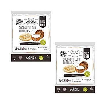 The Real Coconut 12 Tortillas Coconut Flour 7.6oz (2 Pack)