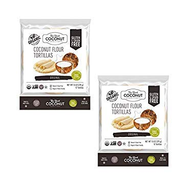 The Real Coconut 12 Tortillas Coconut Flour 7.6oz (2 Pack)