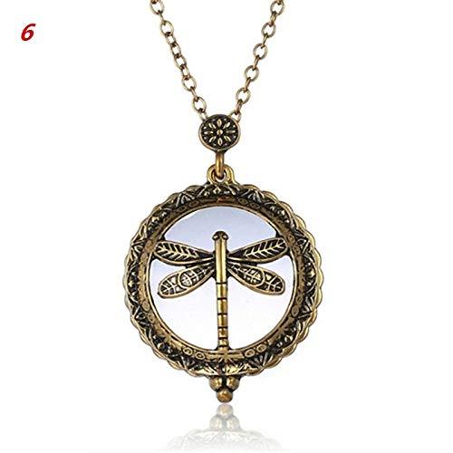 YASE-king Cadena de la vendimia de aumento colgante collar de regalo de la abuela caliente Vidrio Metal lupa antiguo (Color : 6)