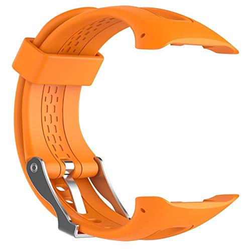 S/L 8 Couleurs Sport Silicone Bracelet Bracelet Bande for Garmin Forerunner 10 15 Montre De Sport GPS Remplacement Bracelet avec Outil Convenience (Color : Orange, Size : 25cm)
