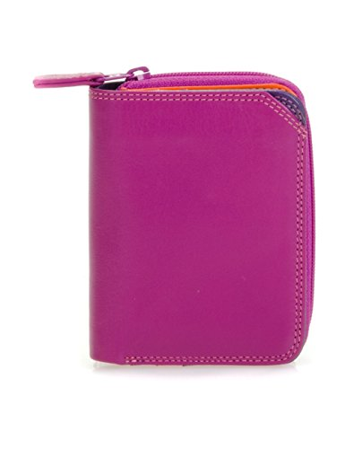Mywalit - leder damen Geldbörse - Small wallet w/zip around purse- 226-75 - Sangria multi