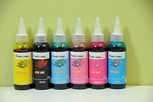 INKXPRO 600ml High Definition Photo dye Ink Refill Set for CIS/CISS or refillable cartridges Using...