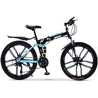 XWDQ Bicicleta De Montaña Plegable Bicicleta 20/24/26 Pulgadas Hombre Y Mujer Estudiantes Variable Velocidad Doble Absorción De Choque Adulto,20inch,24speed
