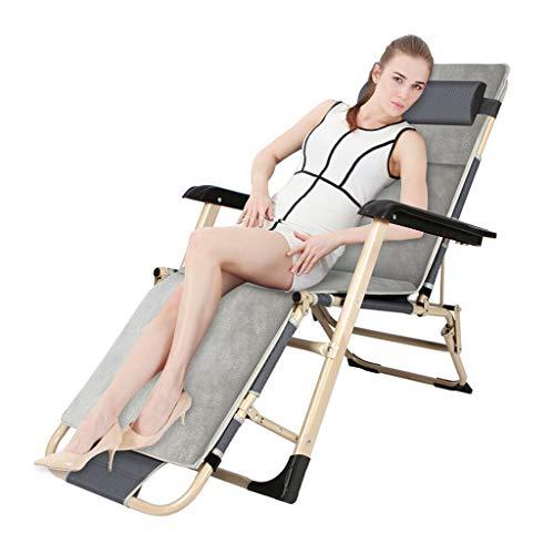 Klappliegestühle Sonnenliege, Folding Schwerelosigkeit Stühle Textoline Sonnenliege Lehnstuhl for Strand Patio Garten Camping im Freien (Color : A)