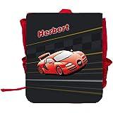 Kinder-Rucksack mit Namen Herbert und schönem Racing-Motiv   Rucksack   Backpack