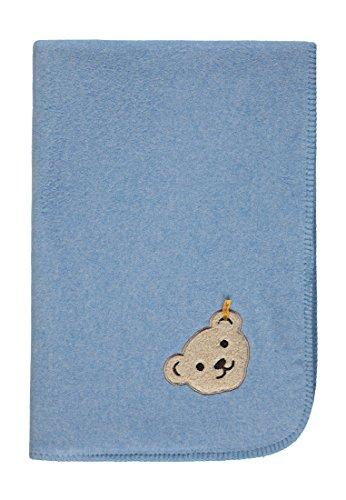 Steiff Baby-Jungen Decke Fleece Schlafsack, Blau (Allure|Blue 3110), One Size (Herstellergröße: 00)