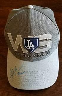 Clayton Kershaw Autographed Signed Memorabilia Los Angeles Dodgers 2018 World Series Hat JSA Certified