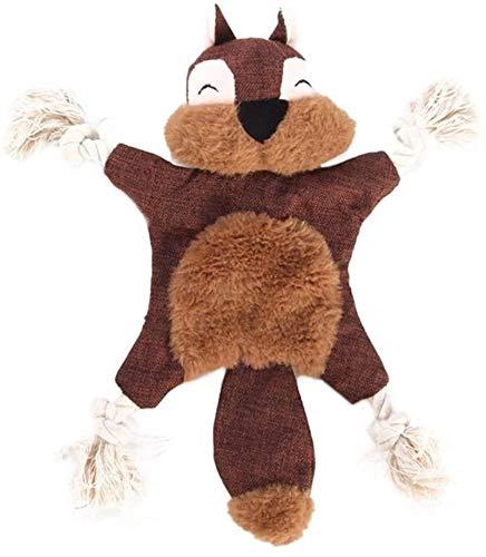 DINEGG Hundeplüschspielzeug 1 Stück Fuchs Eichhörnchen Bär Quietschen Spielzeug Für Hund Welpen Plüsch Klingeln Tier Hund Spielzeug YMMSTORY