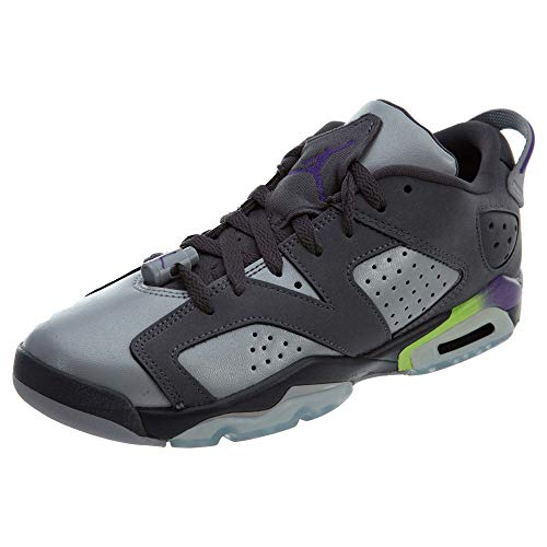 Nike Mädchen Air Jordan 6 Retro Low GG Laufschuhe, Grau/Violett (Drk Gry Ultrvlt WLF Gry Ghst G), 37.5 EU