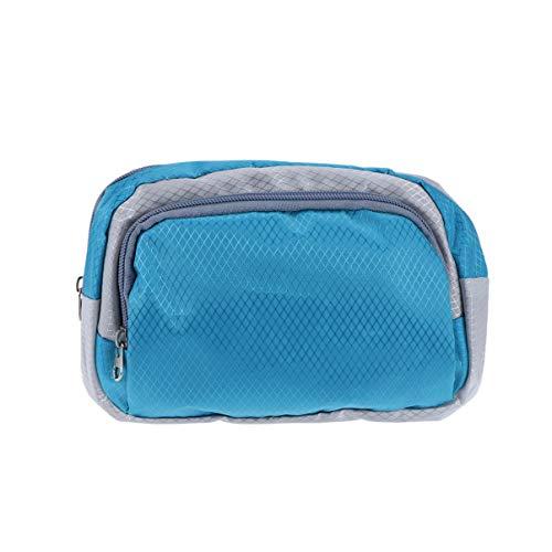 LIOOBO Bolso de la Cintura Lobo Bolso Oxford portátil Impermeable del paño del paño del Bolso del vago para el Partido al Aire Libre del Viaje de los Deportes de la Playa (Azul)