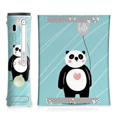 Skin kompatibel mit Microsoft Xbox 360 Aufkleber Folie Sticker Panda Comic Zeichentrick