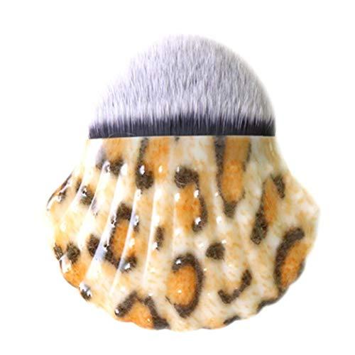 Shell Forme Pinceau De Maquillage Fashion Style Poudre Pinceau Blush Chic Shell Bottom Pinceau Pour Femmes (imprimé Léopard)