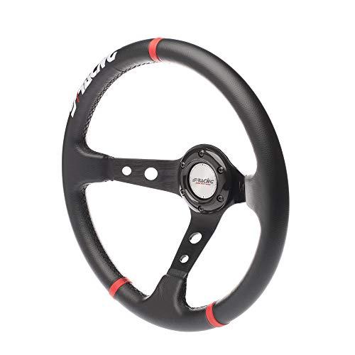 Simoni Racing GVL350 P volante deportivo, negro