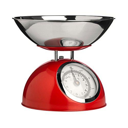 Premier Housewares - Báscula de cocina retro con tazón de fuente de...