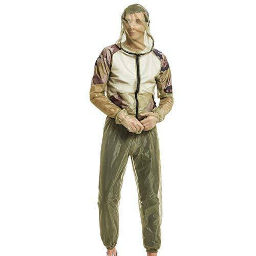 Tenue De Anti Moustique Pêche Insecte Apiculture Combinaison De Protection Maille Ultra Legere Portable Homme Femme Lot De 2 pour Plein Air Explorer Voyage Camping (S/M(160-175cm), Noir)