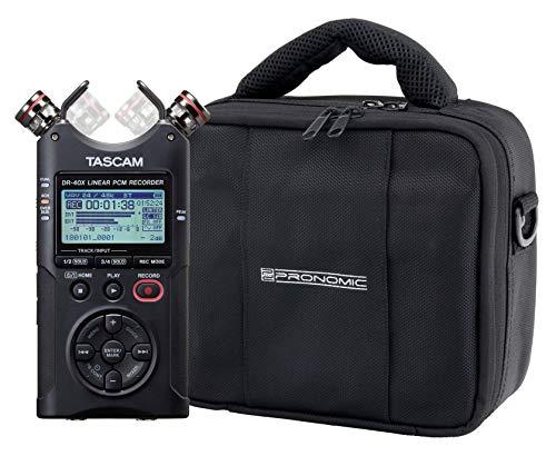 Tascam DR-40X Vierspur Digitalrecorder Set mit Tasche