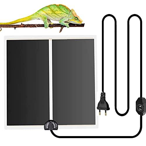 twoonto Reptil Heizmatte Terrarium Heizmatten, 14W Reptil Wärme Matte Terrarium Heizmatte Wärmematte mit Temperaturregler für Reptilien Reptilien Amphibien Eidechse Gecko Schlangen Schildkröte Spinne