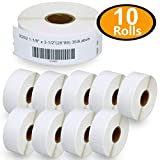 10 Rolls DYMO 30252 Compatible 1-1/8' x 3-1/2'(28mm x 89mm) Self-Adhesive Address Labels,Compatible with Dymo 450, 450 Turbo, 4XL and Many More