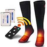 CREATRILL Electric Heated Socks for Women Men, Thermal Heat Socks Kit with 4 Temperature Settings, Battery Powered Wireless Foot Warmer for Climbing Hiking Hunting Skiing Snowboarding