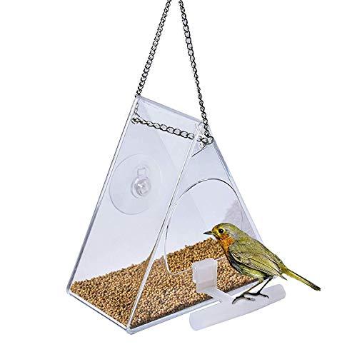 Comedero para Pájaros Comedero Agapornis Aves Silvestres Comedero Grande para Pájaros con...
