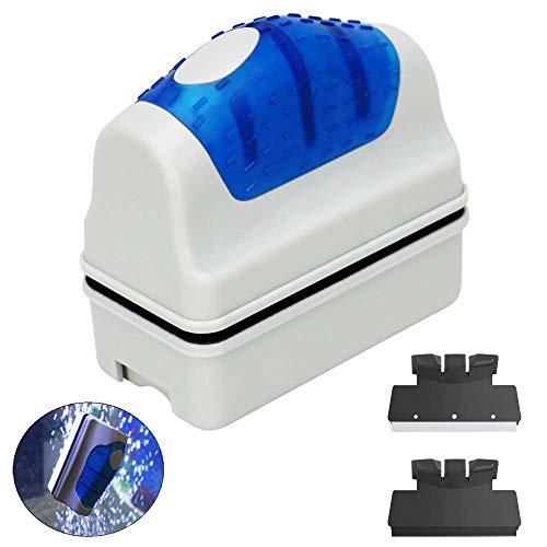 YIQI Acquario Magnetico Serbatoio di Pesce alghe Scrubber Cleaner Raschiatore Galleggiante Clean Brush con 2 raschietti, S (7 x 6.5X 3.7 cm)