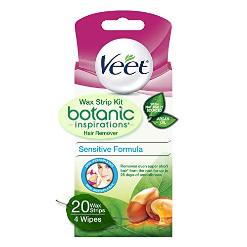 Veet Body, Bikini and Face Hair Remover Wax Kit, 20 ct