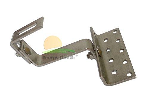 Soporte para gancho ajustable para la instalación de paneles solares fotovoltaicos o solares térmico encima de tejas