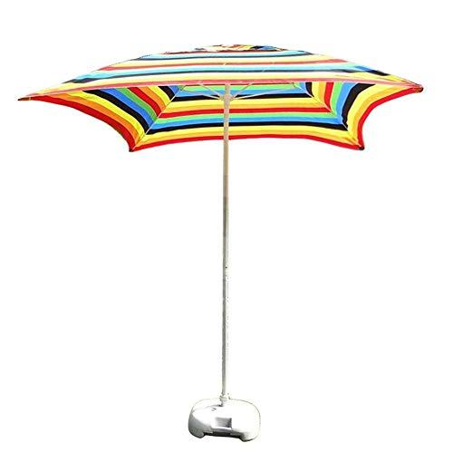 Sywlwxkq Sombrillas - Sombrilla Cuadrada de 6,6 pies / 2 m para Patio al Aire Libre, para Patio al Aire Libre, Mercado de Eventos comerciales en la Playa, Lado de la Piscina, Rayas (Color:
