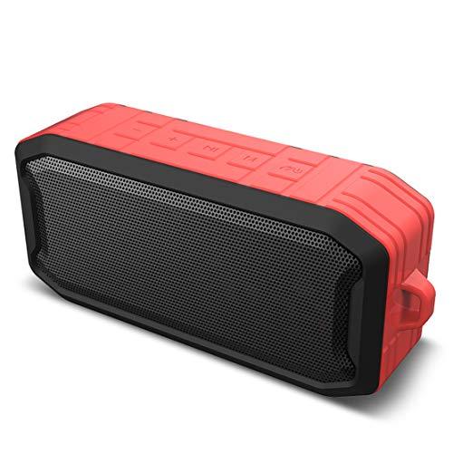 HIOD Bocina Bluetooth Altavoz inalámbrico con Micrófono Radio Mini Portátil Altavoz Bluetooth para Al Aire Libre Deportes Familia Viajar,Red
