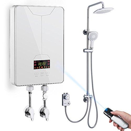 Roscloud@ 7.5KW elektrische Warmwasserbereiter 220V Durchlauferhitzer unter Waschbecken Home Wand-Duschwanne Hot Küche, Friseur, Camping (Farbe : C, größe : 7500W)