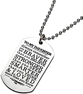 To My Son Daughter Gifts From Mom Dad Inspirational Necklace Christmas