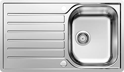 BLANCO LANTOS 45 S-IF Salto – Küchenspüle für 45 cm breite Unterschränke für die Küche – Mit IF-Flachrand und Ablauffernbedienung – Edelstahl-Bürstfinish – 519707